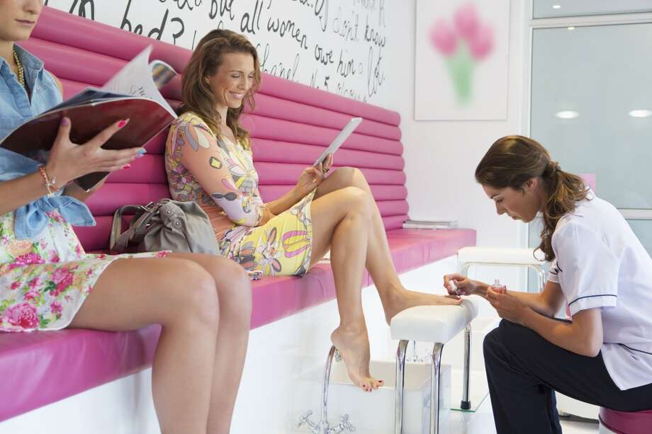 Two hours on her own at the nail salon. Photo: Echo, Getty Images/Cultura RF