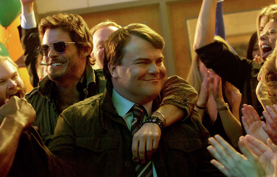 "James Marsden (left), as self-involved actor Oliver and Jack Black as Dan are classmates who reconnect in ""The D Train."" Photo: HANDOUT / Washington Post / THE WASHINGTON POST"