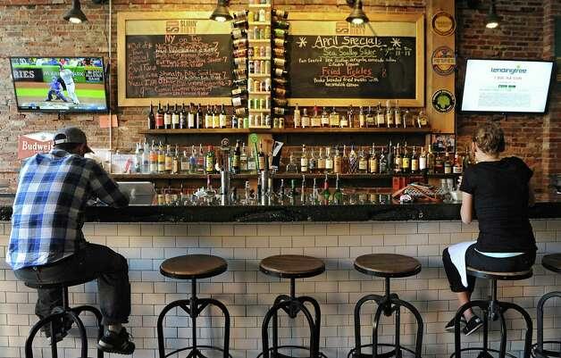 Bar at Slidin' Dirty at 9 First St. on Thursday, April 30, 2015 in Troy, N.Y. (Lori Van Buren / Times Union) Photo: Lori Van Buren / 00031648A