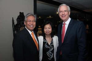 South Texas College of Law Board of Directors member Gordon Quan, Sylvia Quan and former Harris County Judge Robert Eckels