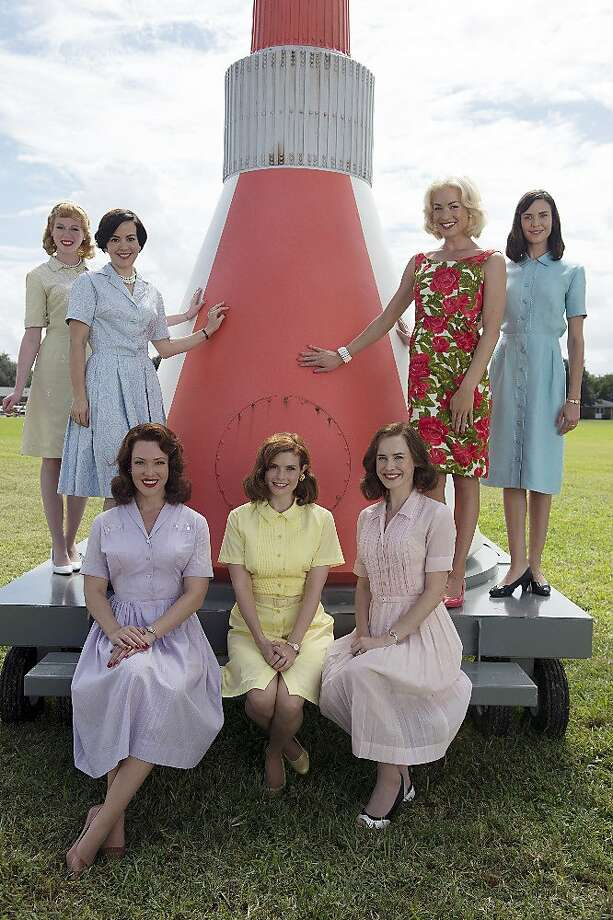 """ABC's """"The Astronaut Wives Club"""" stars Zoe Boyle as Jo Schirra, Azure Parsons as Annie Glenn, Erin Cummings as Marge Slayton, JoAnna Garcia Swisher as Betty Grissom, Dominique McElligott as Louise Shepard, Yvonne Strahovski as Rene Carpenter and Odette Annable as Trudy Cooper. May, 2015 THE ASTRONAUTS WIVES CLUB -  ABC's """"The Astronaut Wives Club"""" stars Zoe Boyle as Jo Schirra, Azure Parsons as Annie Glenn, Erin Cummings as Marge Slayton, JoAnna Garcia Swisher as Betty Grissom, Dominique McElligott as Louise Shepard, Yvonne Strahovski as Rene Carpenter and Odette Annable as Trudy Cooper. (ABC/Cook Allender) Photo: Cook Allender, ABC"""