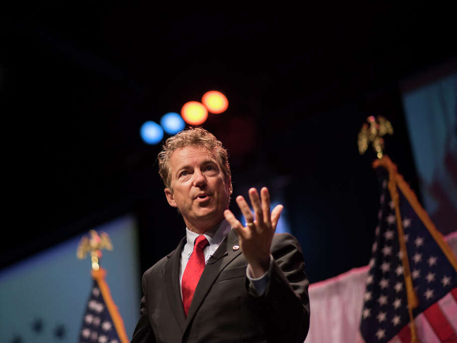 Sen. Rand Paul speaks to a gathering in Iowa last month. He is seeking the Republican nomination for president in 2016. Photo: Daniel Acker / Bloomberg / © Bloomberg Finance LP 2015