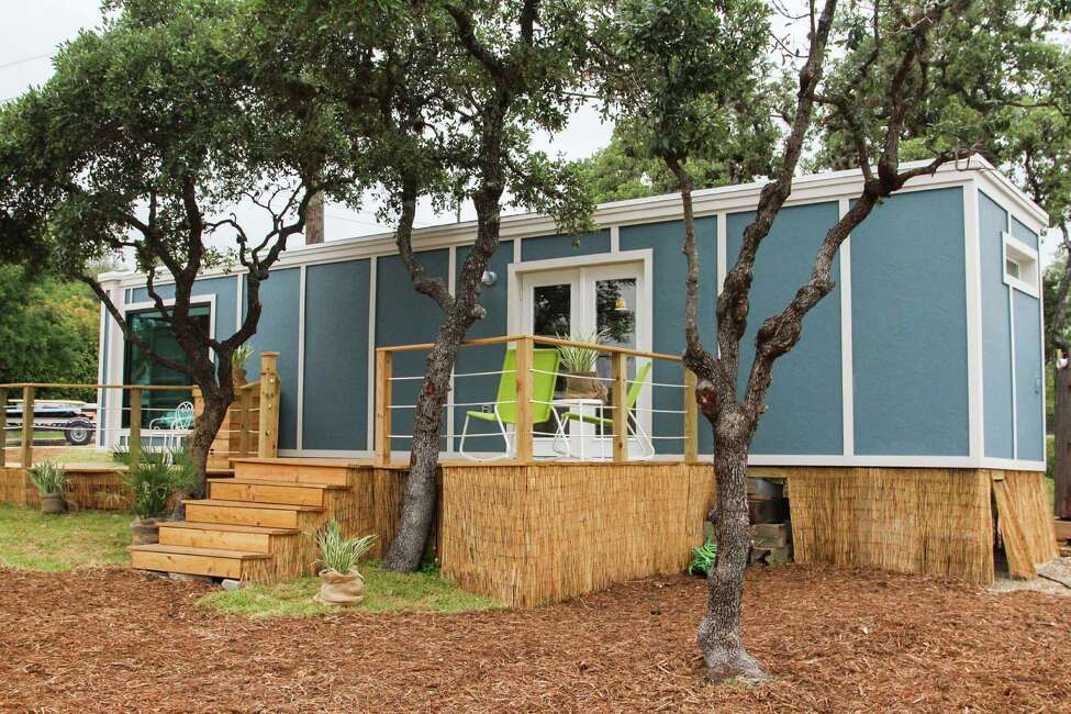 This tiny home's theme, Energy Efficiency/Leadership in Energy & Environmental Design (LEED), has a water collection system, LED lights throughout the home, a programmable air conditioning system and is ready for solar panel installation on its roof.