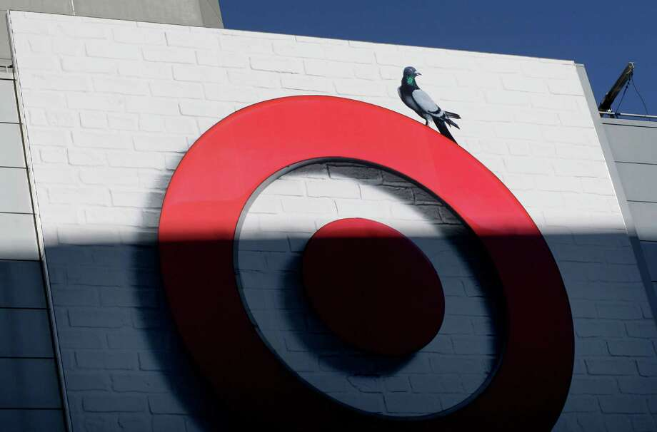 On Fourth Street, the Target logos have bicycles and pigeons painted on them. The Metreon at the corner of Mission and 4th Streets in San Francisco, Calif. now has a new tenant, the Target store. Photo: Brant Ward / The Chronicle / ONLINE_YES