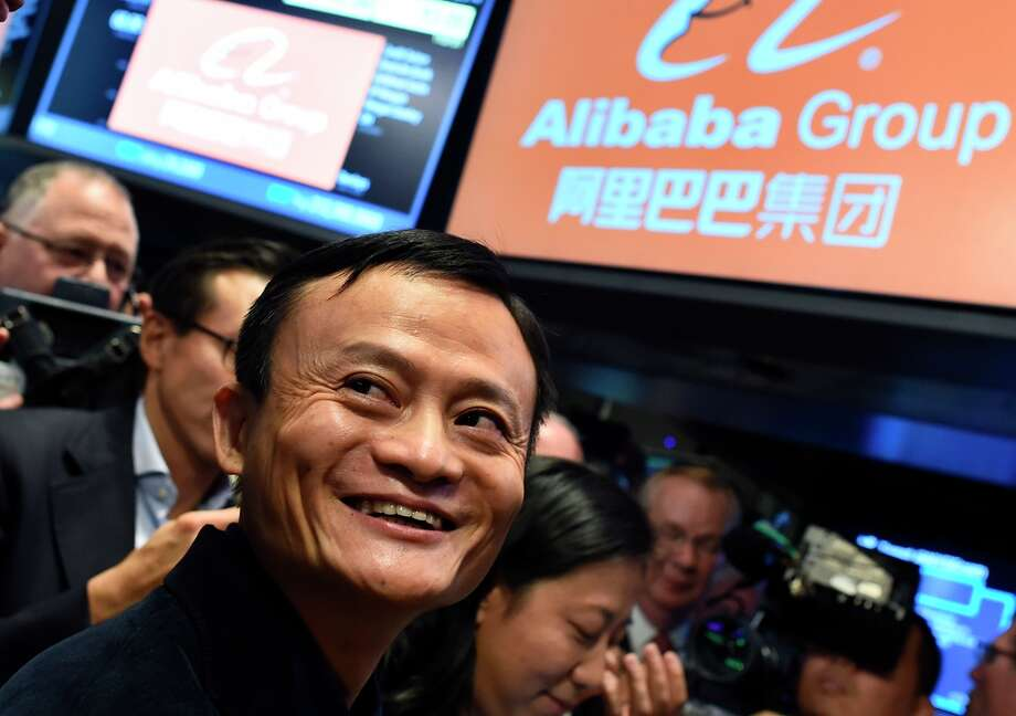 Alibaba founder Jack Ma, here at the New York Stock Exchange last year, has replaced the e-commerce giant's CEO and instituted a hiring freeze. Photo: JEWEL SAMAD / AFP / Getty Images / AFP