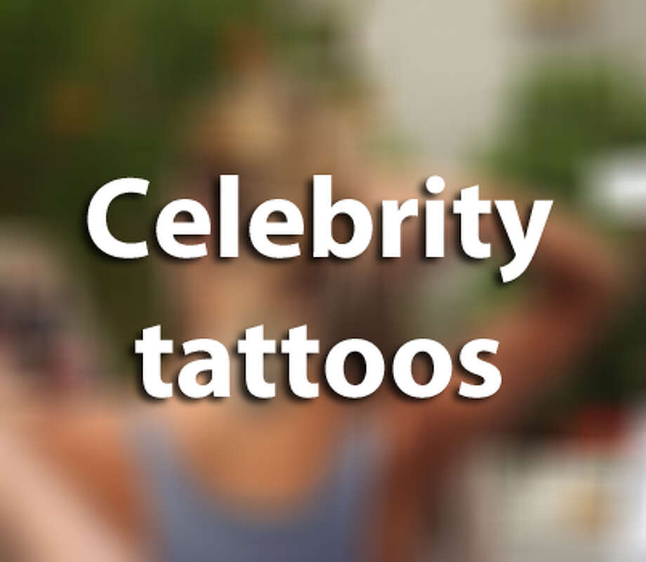 These celebrities are proud to show off their ink. Photo: Houston Chronicle