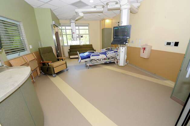 Spacious patient's room in the new Marylou Whitney and Desmond DelGiacco, MD Intensive Care Unit at Saratoga Hospital on Thursday, May 7, 2015 in Saratoga Springs, N.Y. (Lori Van Buren / Times Union) Photo: Lori Van Buren / 00031673A