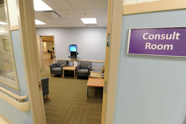 Consult room where doctors can consult with their patients  in the new Marylou Whitney and Desmond DelGiacco, MD Intensive Care Unit at Saratoga Hospital on Thursday, May 7, 2015 in Saratoga Springs, N.Y.  (Lori Van Buren / Times Union) Photo: Lori Van Buren / 00031673A