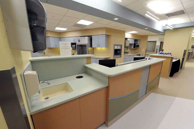 Nurses area in the new Marylou Whitney and Desmond DelGiacco, MD Intensive Care Unit at Saratoga Hospital on Thursday, May 7, 2015 in Saratoga Springs, N.Y.  (Lori Van Buren / Times Union) Photo: Lori Van Buren / 00031673A