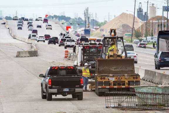 TxDOT's work on widening sections of I-45 south of downtown includes new exits and overpasses in some locations.