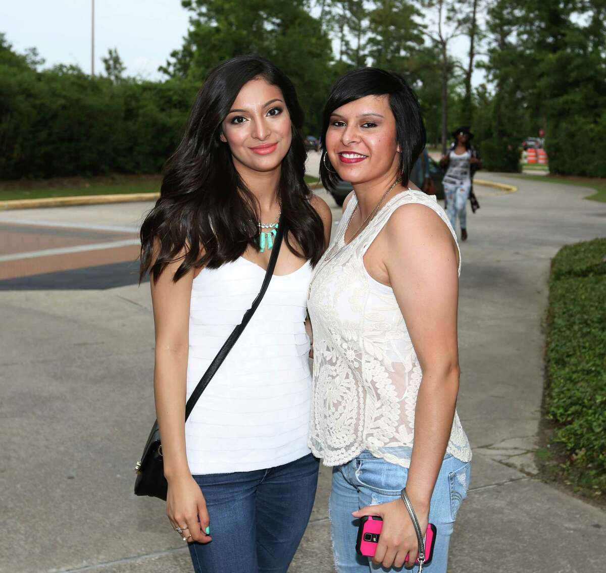 Fans at the Lana Del Rey-Courtney Love concert at the Cynthia Woods Mitchell Pavilion on May 7.