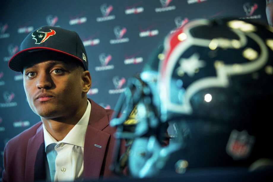 Houston Texans No. 1 draft pick Kevin Johnson listens to questions during a news conference on Friday, May 1, 2015, in Houston. ( Brett Coomer / Houston Chronicle ) Photo: Brett Coomer, Staff / © 2015  Houston Chronicle