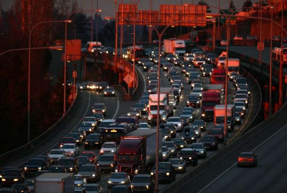 NerdWallet released a study this week outlining the worst cities for drivers.In addition to hours spent in traffic, NerdWallet considered days of precipitation, gas prices, insurance premiums, parking available and likelihood of getting into an accident. Photo: JOSHUA TRUJILLO, SEATTLEPI.COM