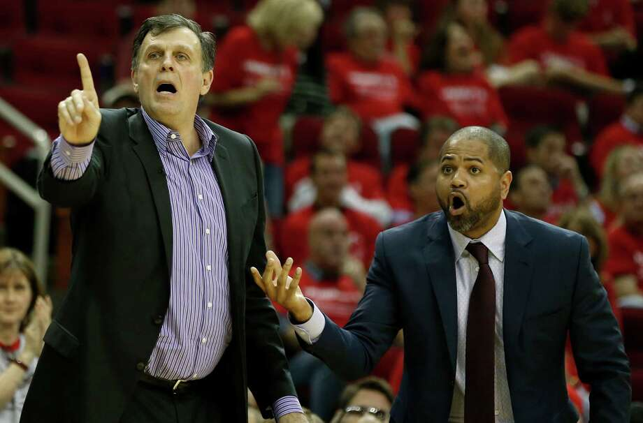 J.B. BickerstaffThe 36-year-old Bickerstaff was named the Rockets' interim head coach Wednesday, so he'll at least get an audition for the job. He's been a Rockets' assistant since 2011 and is known as a defensive-minded coach. Photo: James Nielsen, Staff / © 2015  Houston Chronicle