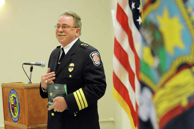 Chief Steven Heider, who will retire soon, speaks during the Colonie Police Department awards ceremony on Thursday, May 7, 2015, at the Colonie Public Safety Building in Colonie, N.Y. (Cindy Schultz / Times Union) Photo: Cindy Schultz / 00031750A