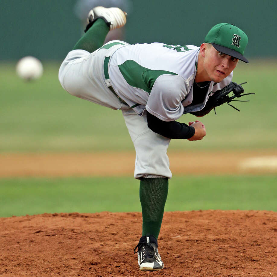 Andres Sosa gets the start for the Rattlers as Canyon hosts Reagan in game 1 of a class 6A playoff series at Canyon High School on May 7, 2015. Photo: Tom Reel / San Antonio Express-News
