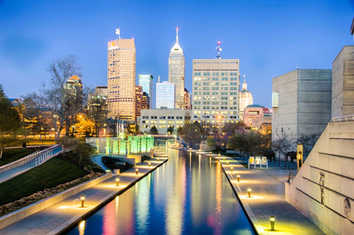 23. Indianapolis, Indiana Average roundtrip commute time: 43.34 minutes