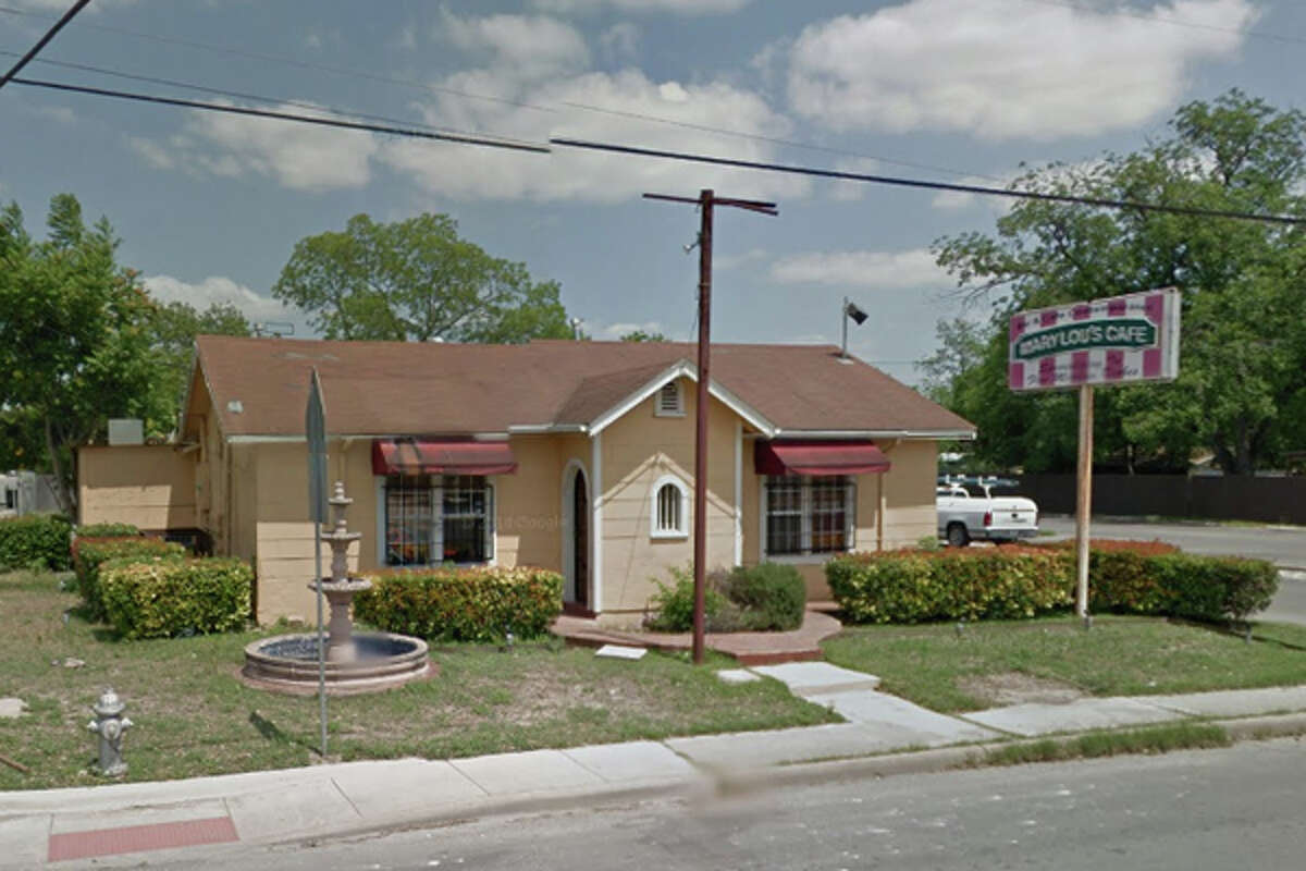 MARY LOU'S CAFE: 1002 PLEASANTON RD San Antonio , TX 78214Highlights: Raw chicken over jalapenos in walk in cooler, hand soap must be available at all hand sinks including bathrooms, shelving in coolers are dirty.