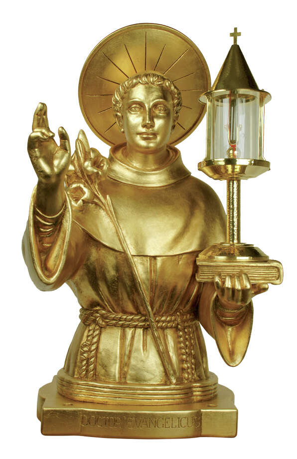 The gold reliquary containing a fragment of the bosy of St. Anthony, is coming to Bridgeport. Photo: Contributed Photo / Connecticut Post Contributed