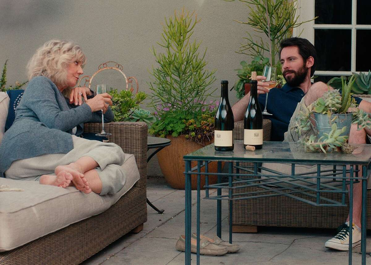 """Carol (Blythe Danner, left) lands a drinking buddy when the new pool guy, Lloyd (Martin Starr), shows up in """"I'll See You in My Dreams,"""" which features Danner breathing new life into """"Cry Me a River."""""""