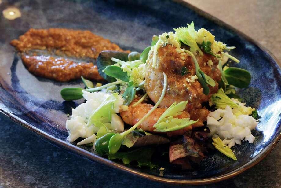 Shrimp Remoulade salad Photo: Kin Man Hui /San Antonio Express-News / ©2015 San Antonio Express-News