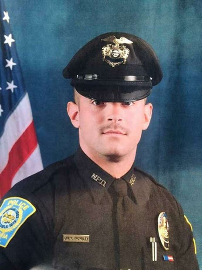 New Hampshire Police Officer Keith Trombley was killed while trying to ride a bicycle down a flight of stairs. Photo: Nashua Police Dept.
