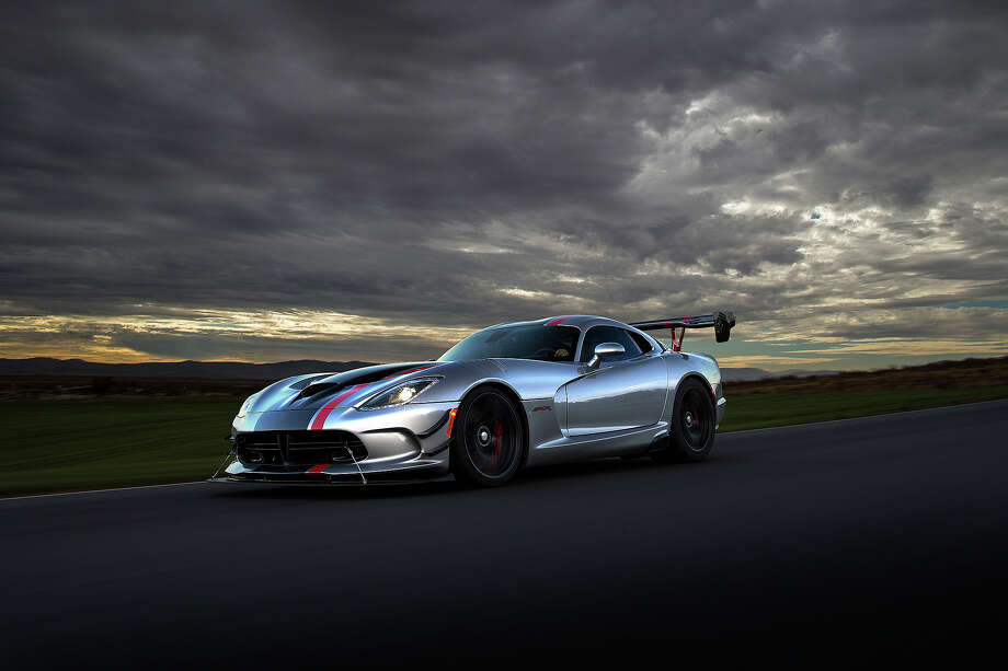 "Dodge says the new 2016 Dodge Viper ACR is ""the next chapter in the history of Dodge."" The car is powered by a 8.4-liter V-10 engine rated at 645 horsepower and 600 lb.-ft. of torque – the most torque of any naturally aspirated sports-car engine in the world, Dodge claims. Photo: FIAT Chrysler Automobiles / Getty, 2015"