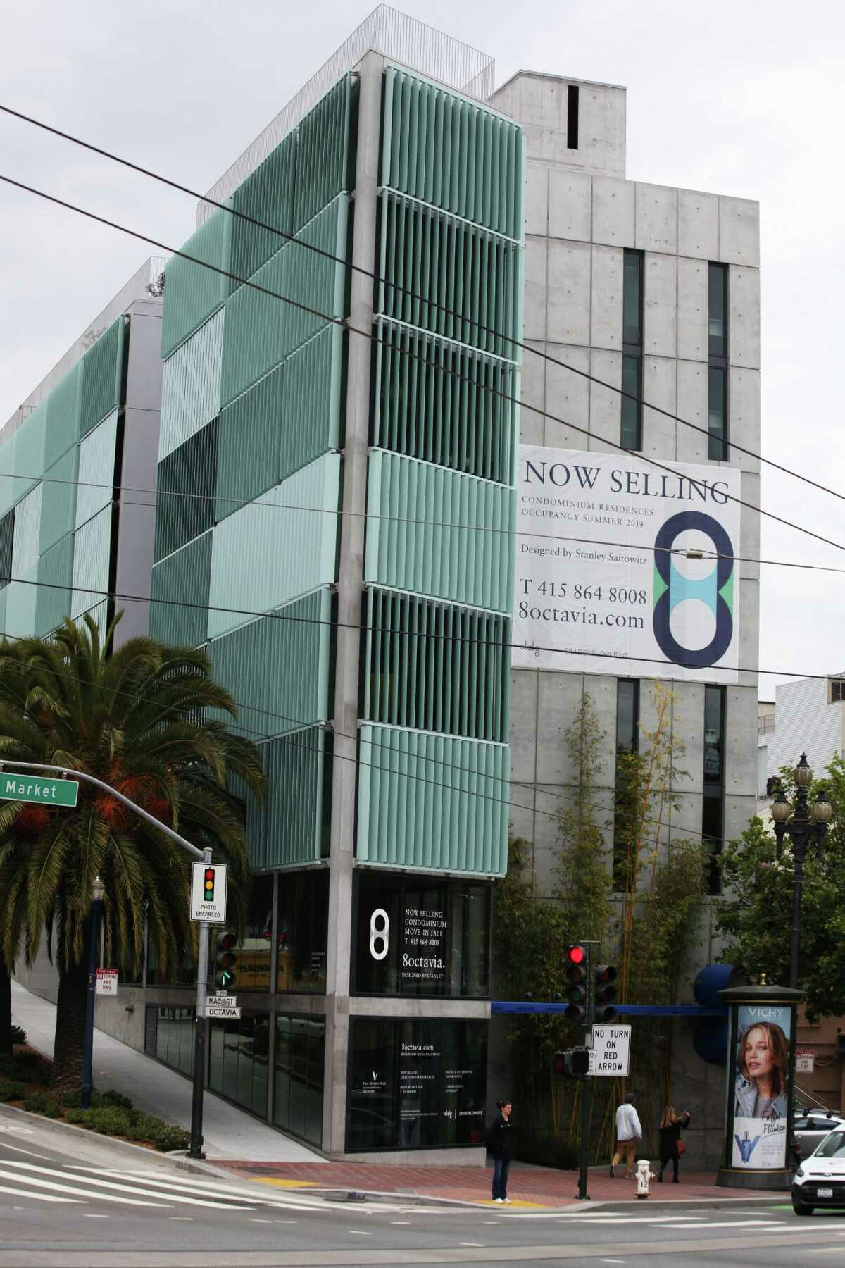8 Octavia look is always shifting as residents change their louvers as they see fit.