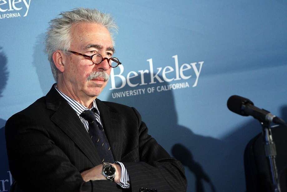 Nicholas Dirks, chancellor of University of California, Berkeley, pictured during a news conference at the school's Haas Pavilion, Friday, May 8, 2015, in Berkeley, Calif. Dirks named Michael Williams Cal's new athletic director. Photo: Santiago Mejia, The Chronicle
