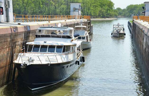 Boats load into Lock 8 as the New York State Canal System opens Friday May 8, 2015 in Rotterdam, NY.  (John Carl D'Annibale / Times Union) Photo: John Carl D'Annibale / 00031630A