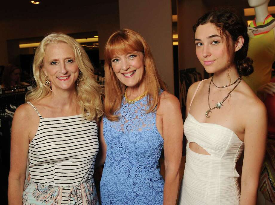 Designer Nanette Lepore, from left, Gracie Cavnar and Violet Savage Photo: Dave Rossman, Freelance / Freelalnce