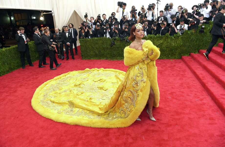 Rihanna arrives at the 2015  Metropolitan Museum of Art's Costume Institute Gala benefit in honor of the museums latest exhibit China: Through the Looking Glass  May 4, 2015 in New York.      AFP PHOTO /  TIMOTHY  A. CLARYTIMOTHY A. CLARY/AFP/Getty Images Photo: TIMOTHY A. CLARY, Staff / AFP