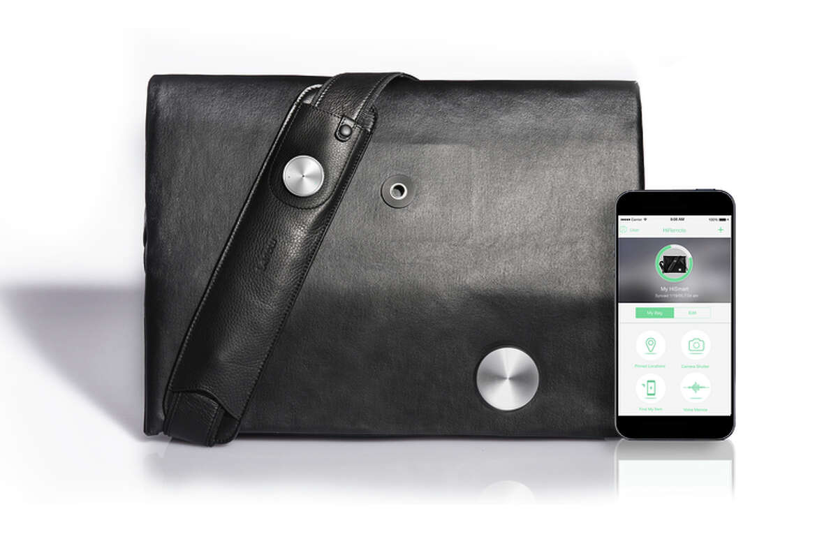 HiSmart by Lepow: Available in black or cognac leather with sleek interior pockets, this convertible carry-all ($249) goes from shoulder bag to backpack while allowing its wearer to make and answer calls, record voice memos, snap pictures, listen to music and pin locations so you never forget, say, where the car is parked. During a successful crowdfunding campaign this spring, the bag hit its goal in under 30 hours and went on to raise more than $278K. http://hismart.us