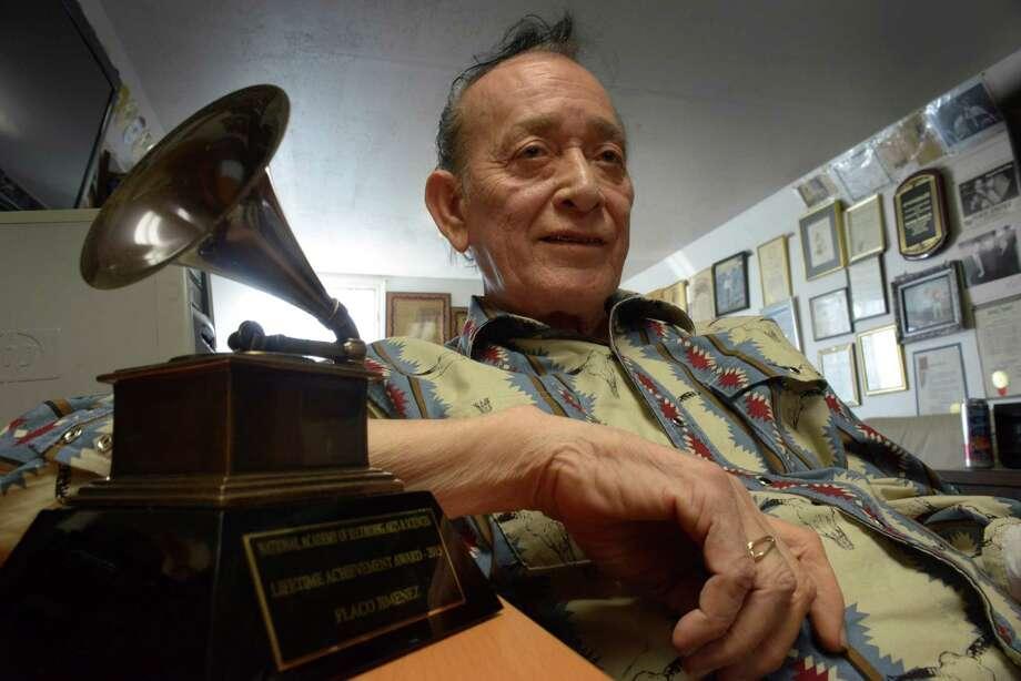 Flaco Jimenez, who was recently awarded a lifetime achievement Grammy Award, is a conjunto icon and dabbles in Americana. Photo: Billy Calzada / San Antonio Express-News / San Antonio Express-News