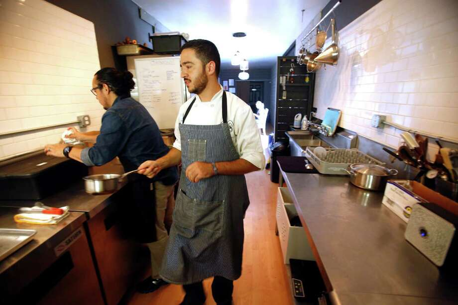 Mixtli chef Diego Galicia, seen Tuesday afternoon April 21, 2015, focuses on authentic regional Mexican cuisine made in-house using fresh ingredients. Photo: William Luther,  Staff / San Antonio Express-News / © 2015 San Antonio Express-News