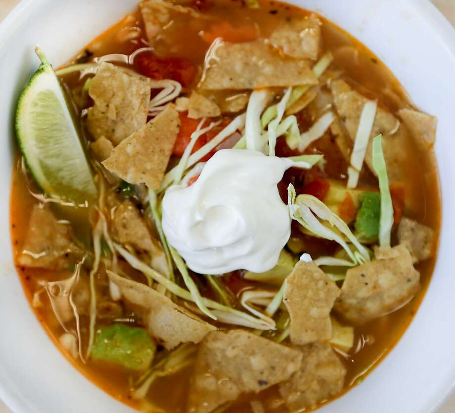 Salmon Tortilla Soup in San Francisco, Calif., on Wednesday, May 6, 2015. Photo: Amy Osborne, The Chronicle