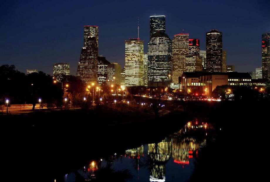 """Bayou City""-- The bayou is like, right there. Photo: Gary Coronado, Staff / Â 2015 Houston Chronicle"