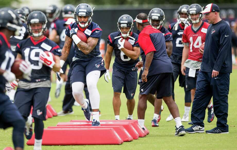 The Texans coaches get to see their draft choices and undrafted free agents on the field for the first time Friday when they kick off this weekend's rookie minicamp at Houston Methodist Training Center. Photo: Brett Coomer, Staff / © 2015  Houston Chronicle