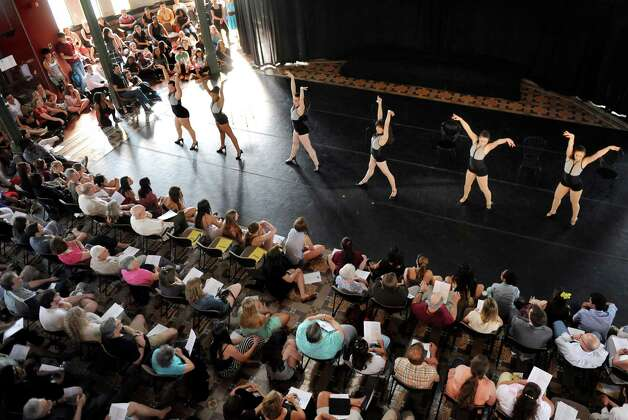 Dancers perform Burlesque during the Steinmetz Symposium on Friday, May 8, 2015, at Union College in Schenectady, N.Y. Representing a variety of dance styles, more than 70 students performed as part of the Lothridge Festival of Dance. (Cindy Schultz / Times Union) Photo: Cindy Schultz / 00031764A