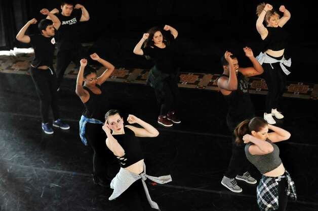 Dancers perform Hip Hop Club during the Steinmetz Symposium on Friday, May 8, 2015, at Union College in Schenectady, N.Y. Representing a variety of dance styles, more than 70 students performed as part of the Lothridge Festival of Dance. (Cindy Schultz / Times Union) Photo: Cindy Schultz / 00031764A