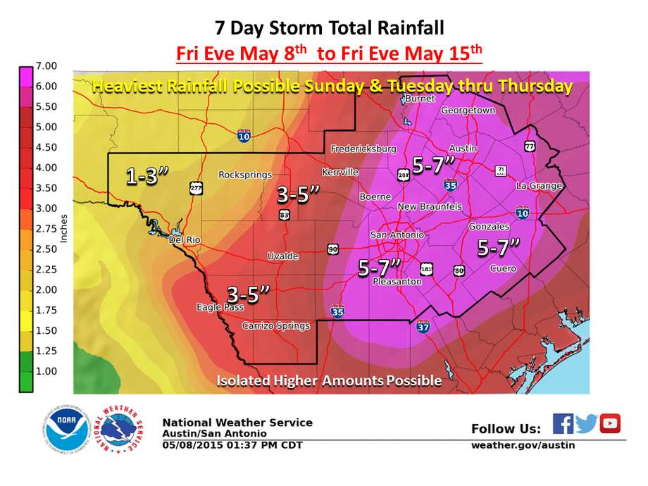 7 day storm total rainfall