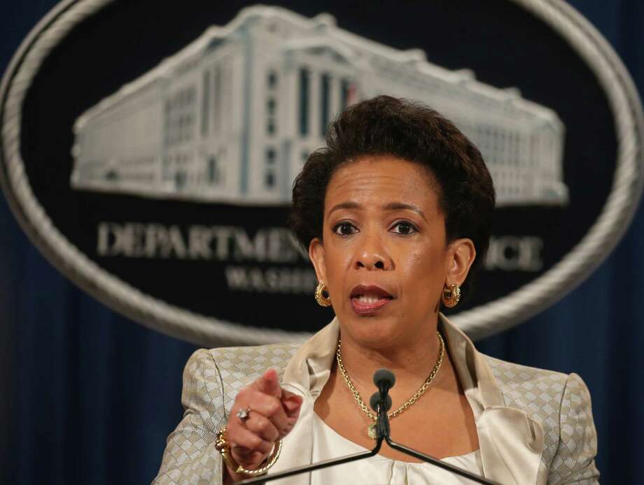 Attorney General Loretta Lynch said police use of arrests, searches and use of force will be eyed. Photo: Mark Wilson / Getty Images / 2015 Getty Images