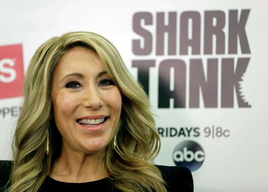 """In this April 7, 2015 photo, Lori Greiner, a television personality from the show """"Shark Tank"""", speaks about how to succeed as an entrepreneur, in New York. Greiner, who's sold her jewelry organizers, home decor and other products on QVC since 1998, encourages other entrepreneurs to try to get on air. (AP Photo/Seth Wenig) Photo: Seth Wenig, STF / AP"""