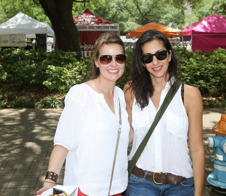 Guests pose for a photo at Texas Fest Saturday, May 9, 2015, in Houston. Photo: Jon Shapley, Houston Chronicle / © 2015 Houston Chronicle