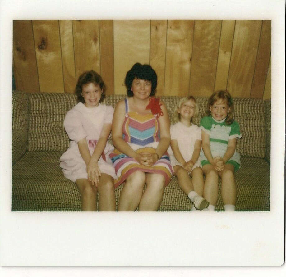 Lisa Falkenberg, far right, celebrates Mother's Day with her mother Connie and sisters Lorie and Holly in 1984 in McQueeney. / handout