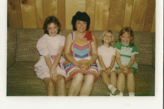 Lisa Falkenberg, far right, celebrates Mother's Day with her mother Connie and sisters Lorie and Holly in 1984 in McQueeney.