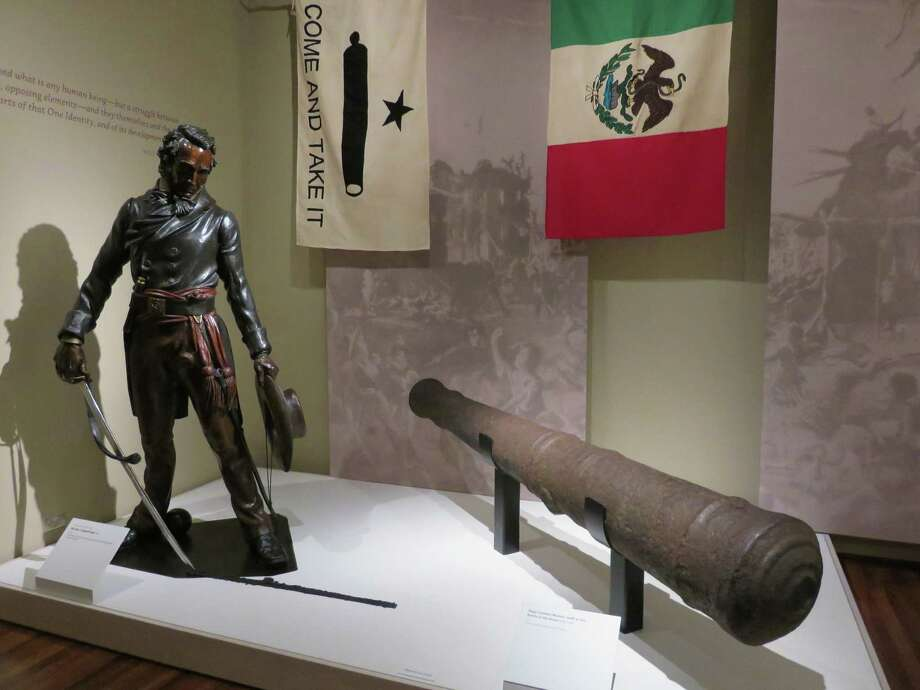 A cannon used at the Alamo and found during 1908 construction of the Gibbs Building and on loan from the collection of Red McCombs. Photo: Photo Courtesy Of The Briscoe M