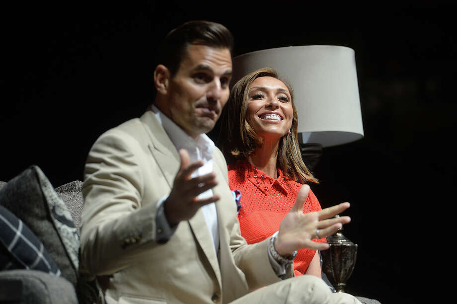 Keynote speakers Bill and Giuliana Rancic talk about relationships and life choices with KFDM's Kelli Phillips during the Christus Live Well Women's Conference Saturday at Ford Park. Photo taken Friday, May 8, 2015 Kim Brent/The Enterprise Photo: Kim Brent / Beaumont Enterprise