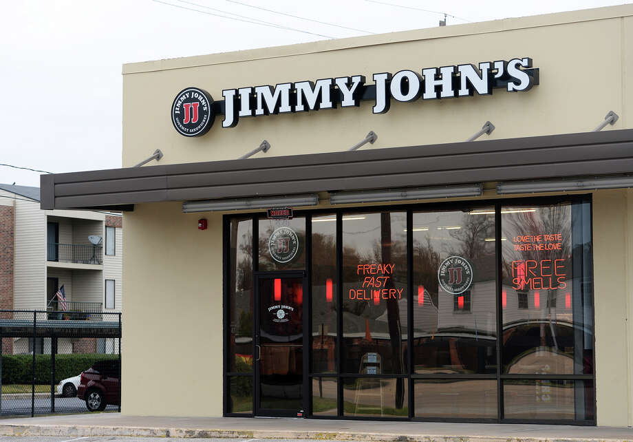 Pictured is the facade of Beaumont's first Jimmy John's. Beaumont residents seem to be enjoying the speedy sandwiches available from the area's first Jimmy John's, located on Dowlen Road.  Photo taken Wednesday, 1/8/14  Jake Daniels/@JakeD_in_SETX Photo: Jake Daniels / ©2013 The Beaumont Enterprise/Jake Daniels