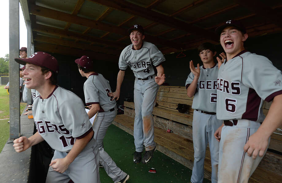 Silsbee's bench explodes as they pull ahead of Shepherd during their play-off match-up at Vidor High School Saturday. Photo taken Friday, May 8, 2015 Kim Brent/The Enterprise Photo: Kim Brent / Beaumont Enterprise